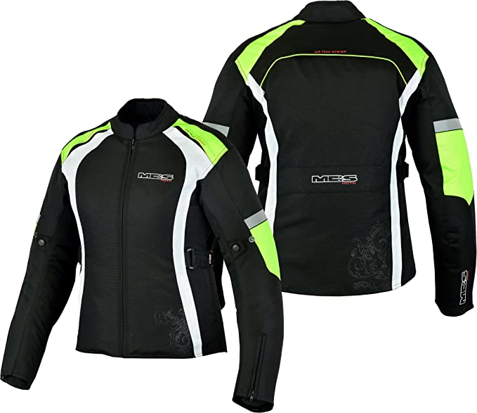 4XL, Giallo Giacca in tessuto impermeabile da donna da turismo MBSmoto MJ24 Moto Scooter Touring racing