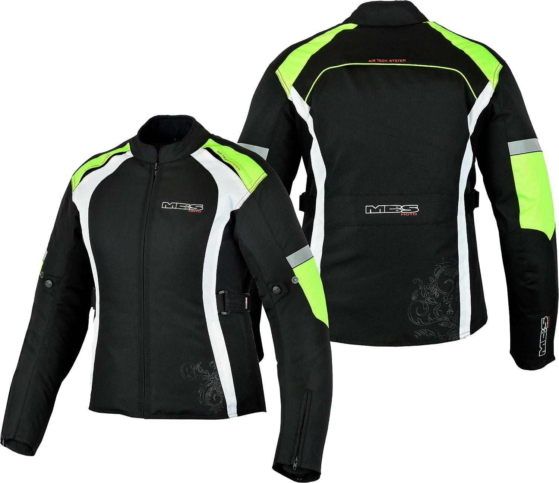 Orange Motors Motorrad-Jacke Motorrad Schutz-Jacke Motorradjacke textil f/ür Herren 3XL