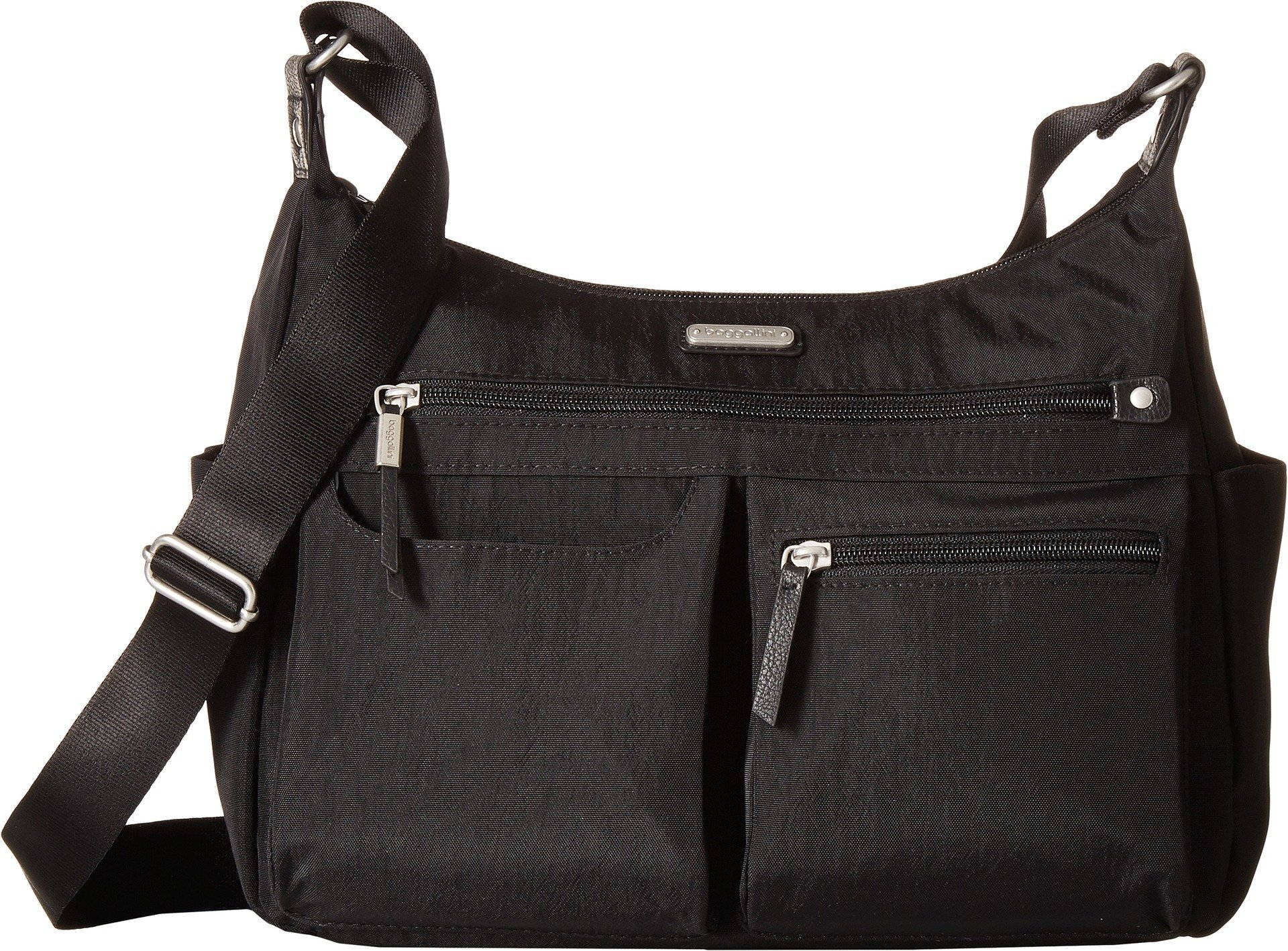 Baggallini Women's New Classic''Heritage'' Anywhere Large Hobo with RFID Phone Wristlet Black One Size by Baggallini