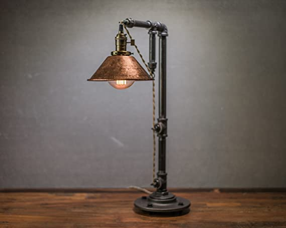 Industrial Style Table Lamp Pendant Edison Bulb Copper Shade