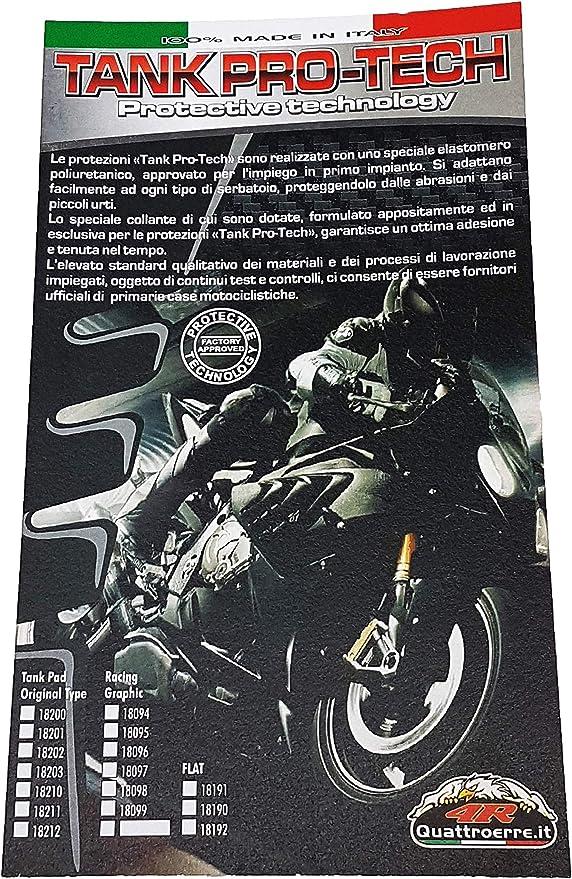 Ryde Coussinet de Protection Universel pour R/éservoir de Moto Noir