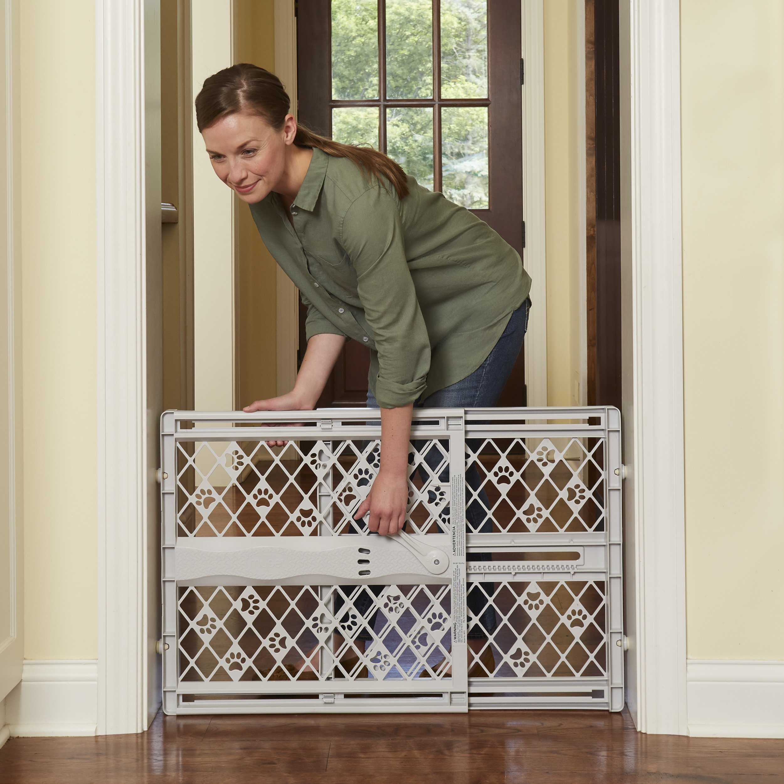 North States Pet MyPet Paws Portable Pet Gate fits Openings 26'' to 42'' Wide by North States Pet (Image #6)