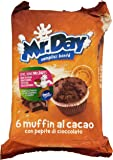 Mr. Day - Muffin al Cacao, con Pepite di Cioccolato, Pacco da  6X42 g, totale: 252 g