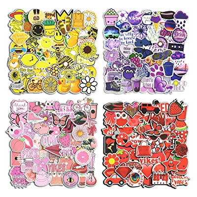 200pcs Cute Stickers for Kids, Teens, Girls, Teachers, Vinyl Stickers for Skateboard, Laptop Luggage, Cars, Bike, Water Bottles, Durable Decals: Arts, Crafts & Sewing