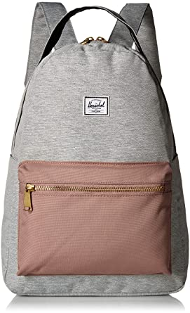 3c0977ad84e4 Herschel Nova Mid-Volume Backpack Light Grey Crosshatch Ash Rose Black One  Size