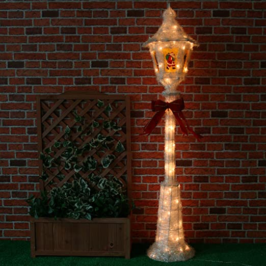Large Pre-Lit Victorian Style Christmas Lamp Post Street Lights ...