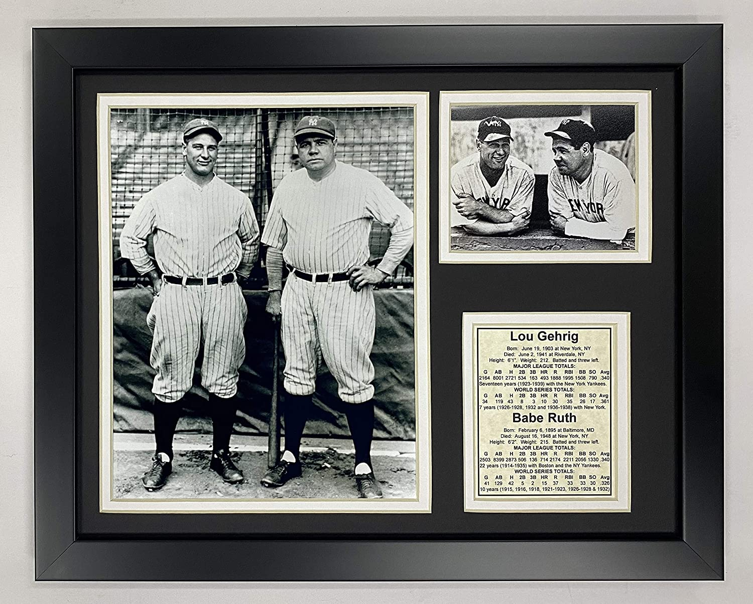 11 x 14-Inch Legends Never Die Lou Gehrig Farewell Framed Photo Collage