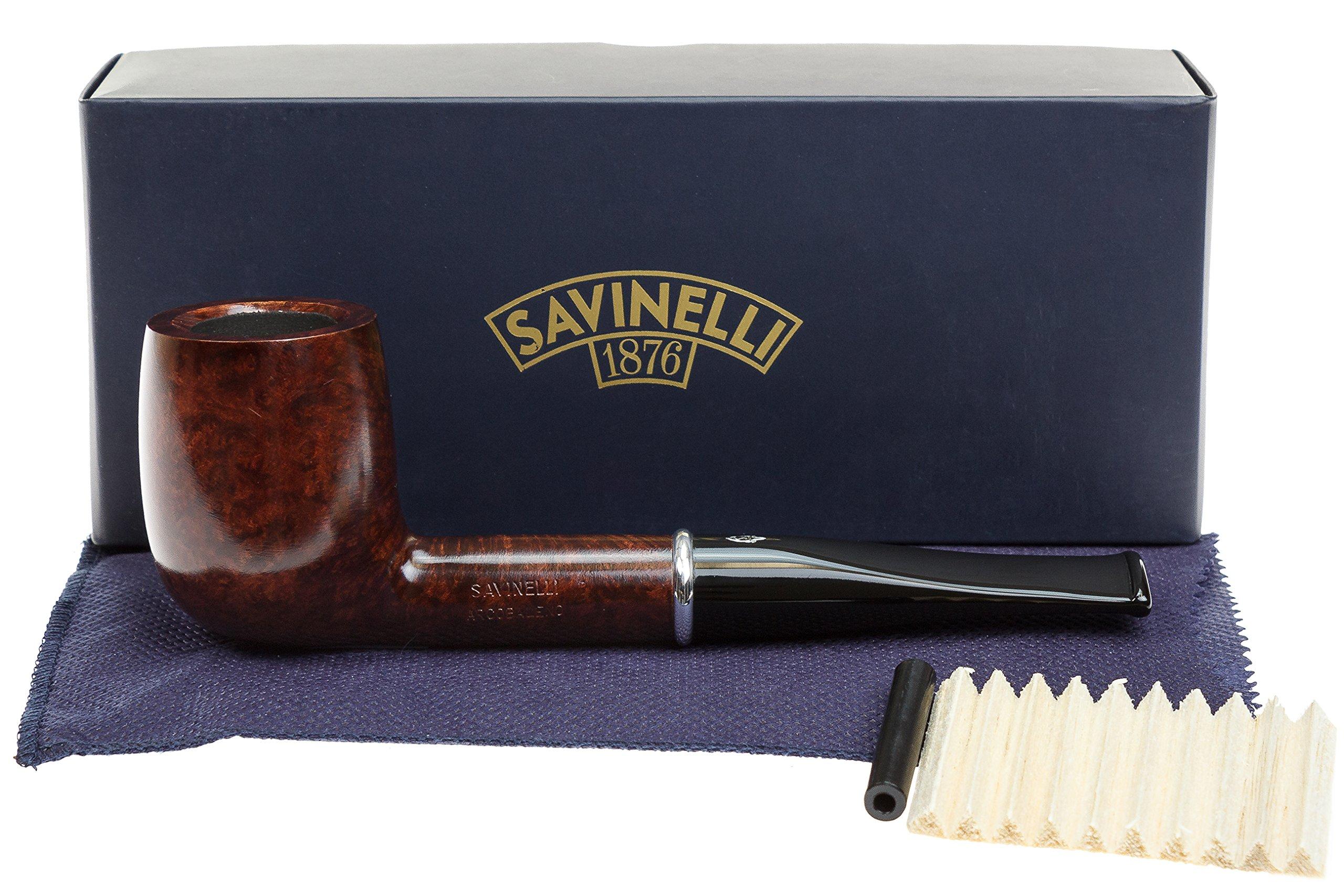 Savinelli Arcobaleno 111 Brown Tobacco Pipe - Smooth