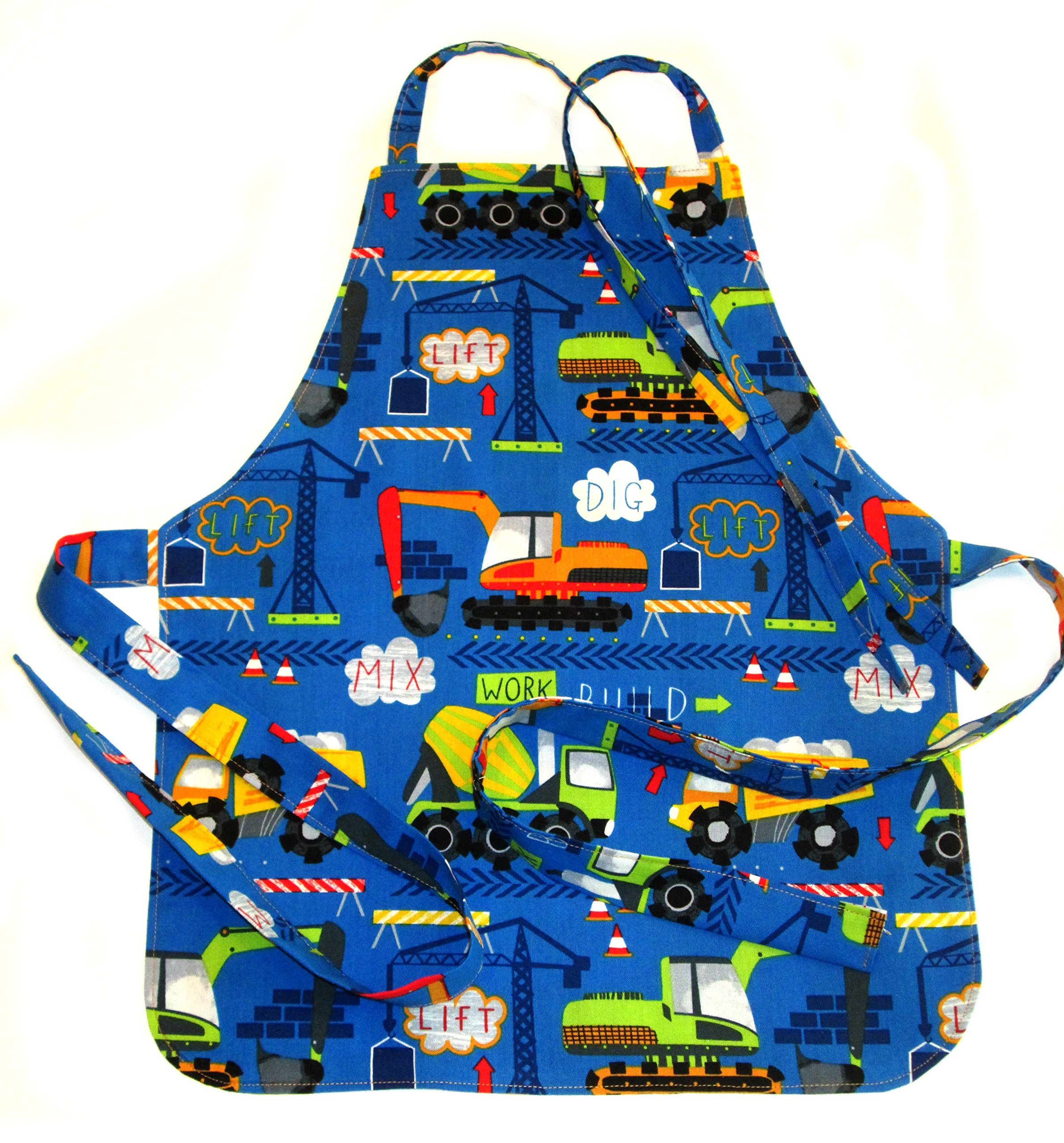 Handmade Toddler/Boy Apron, by DesignsByDowning (Royal Construction Trucks)