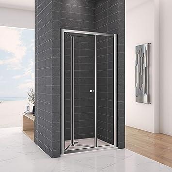 Marco empotrado de puerta de cristal endurecido, de dos paneles para puerta de ducha, con diseño de lujo., 760mm door: Amazon.es: Hogar