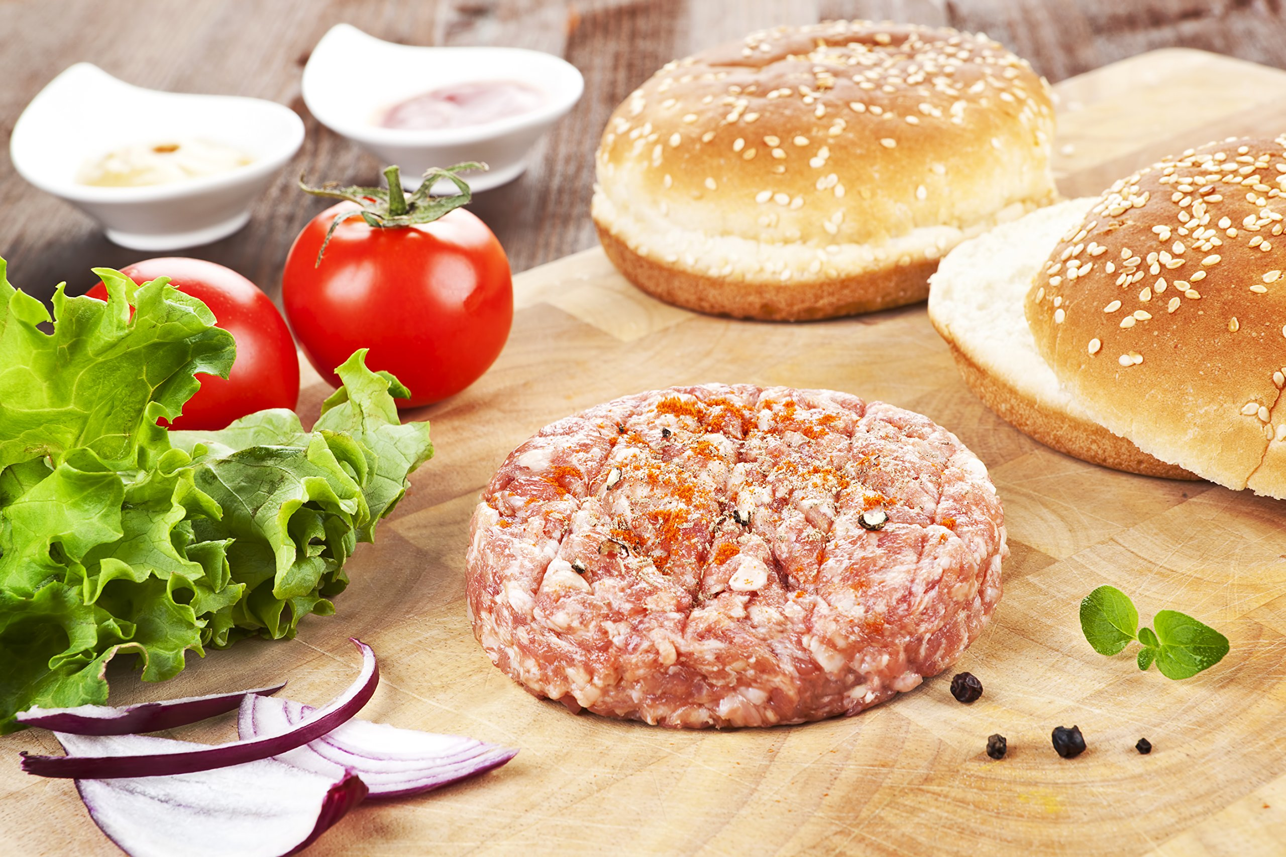 Organic Kosher Burger Sampler 4 Count of Each 10OZ Kobe Beef, Highland Lamb, Chicken And Turkey Burgers Perfect for any BBQ Grill Occasion by Aarons Gourmet