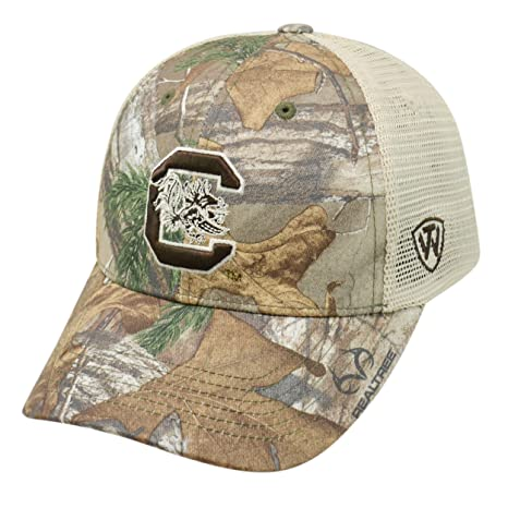 8562b64f4e6a1 Image Unavailable. Image not available for. Color  Top of the World Realtree  NCAA-Prey-Camouflage Mesh Trucker Hat-South Carolina