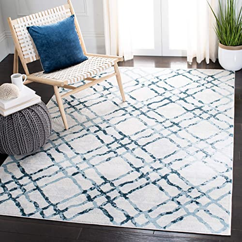 Safavieh Isabella Collection ISA957A Area Rug, 8 x 10 , Ivory Turquoise
