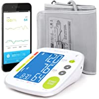 Brazalete para monitor de presión sanguínea Bluetooth de Balance, aplicación gratuita con monitor inteligente conectado