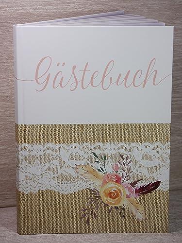 Gastebuch Hochzeit Vintage Jute Spitze Druck Amazon De Handmade