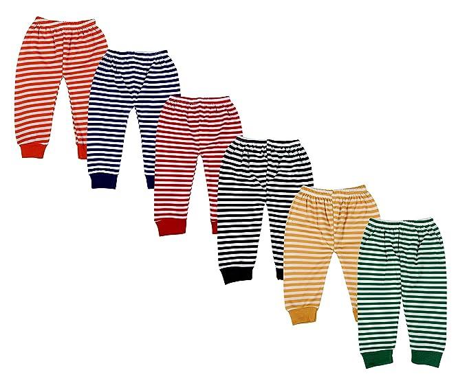 b89efcd6b Kuchipoo Fleece Baby Pajamas Bottoms with Rib - Pack of 6  Amazon.in ...