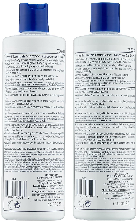 Mane n Tail - Juego De Champú y Acondicionador Herbal Essentials: Amazon.es: Belleza