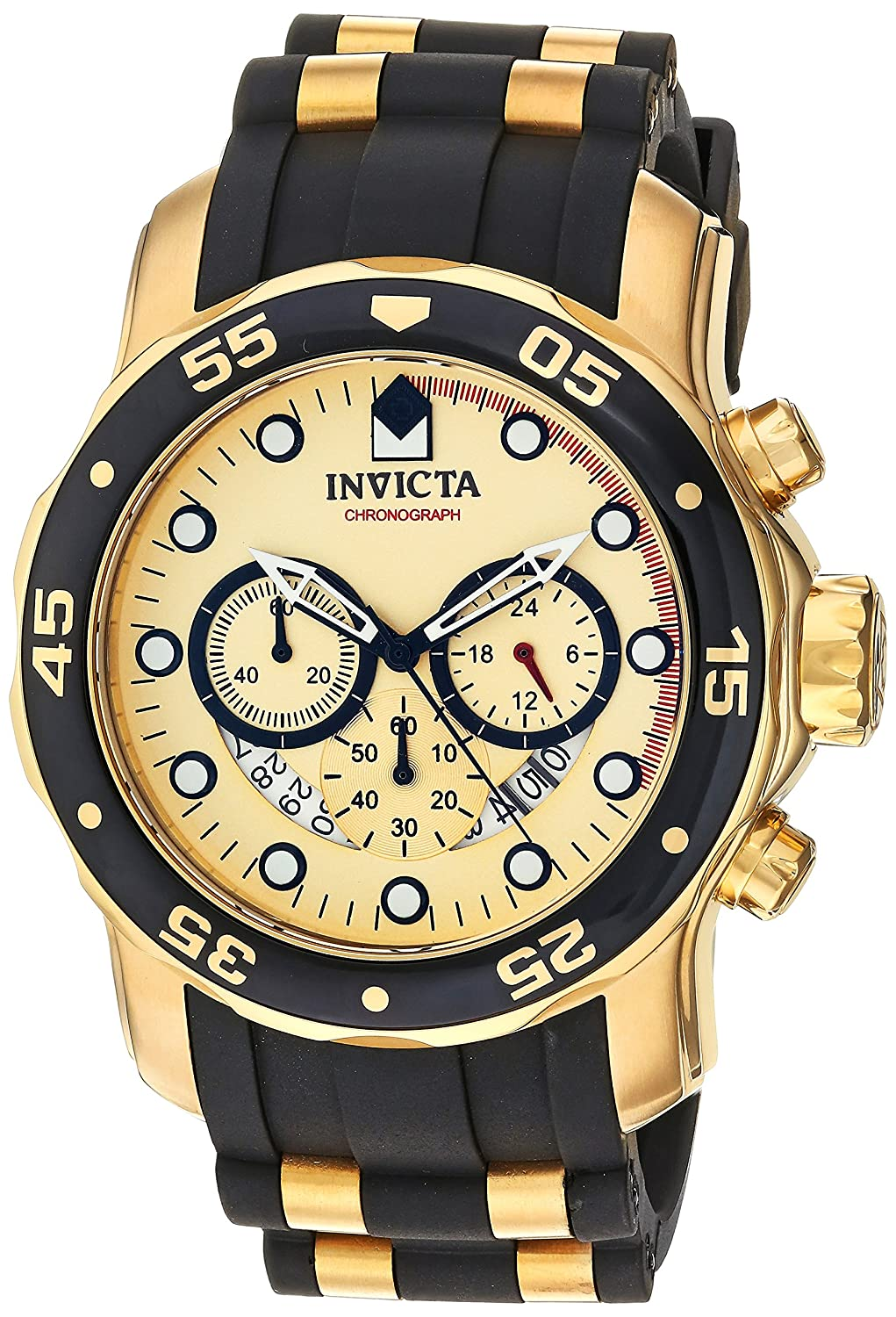 Amazon.com: Invicta Men's 17566 Pro Diver 18k Gold Ion-Plated Stainless  Steel Watch: Invicta: Watches