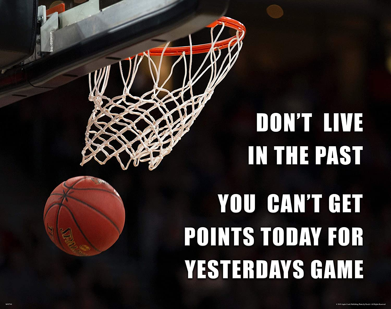 Apple Creek Basketball Quote Motivational Poster Art Print 11x14 School Classroom College Wall Decor Pictures