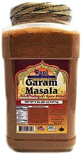 Rani Garam Masala Indian 11-Spice Blend 5lbs (80oz) 2.2kg Bulk PET Jar ~ All Natural, Salt-Free   Vegan   No Colors   Gluten Friendly   NON-GMO   Indian Origin