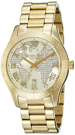 49900deb814f Amazon.com  Michael Kors Women s Layton Gold-Tone Watch MK5959 ...