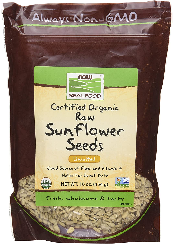 NOW Foods Organic Raw Sunflower Seeds - 16 oz