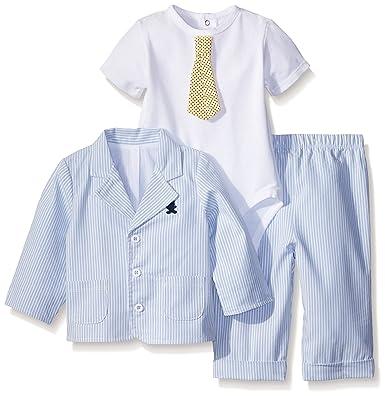 Amazon Com Little Me Baby Boys Dapper 3 Piece Jacket Set Clothing