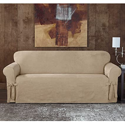 Peachy Amazon Com Sure Fit Designer Sueded Twill Loveseat Gamerscity Chair Design For Home Gamerscityorg