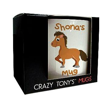 Pferd Pony Personalisierbar Als Geschenk Susse Tasse Pferd Fur