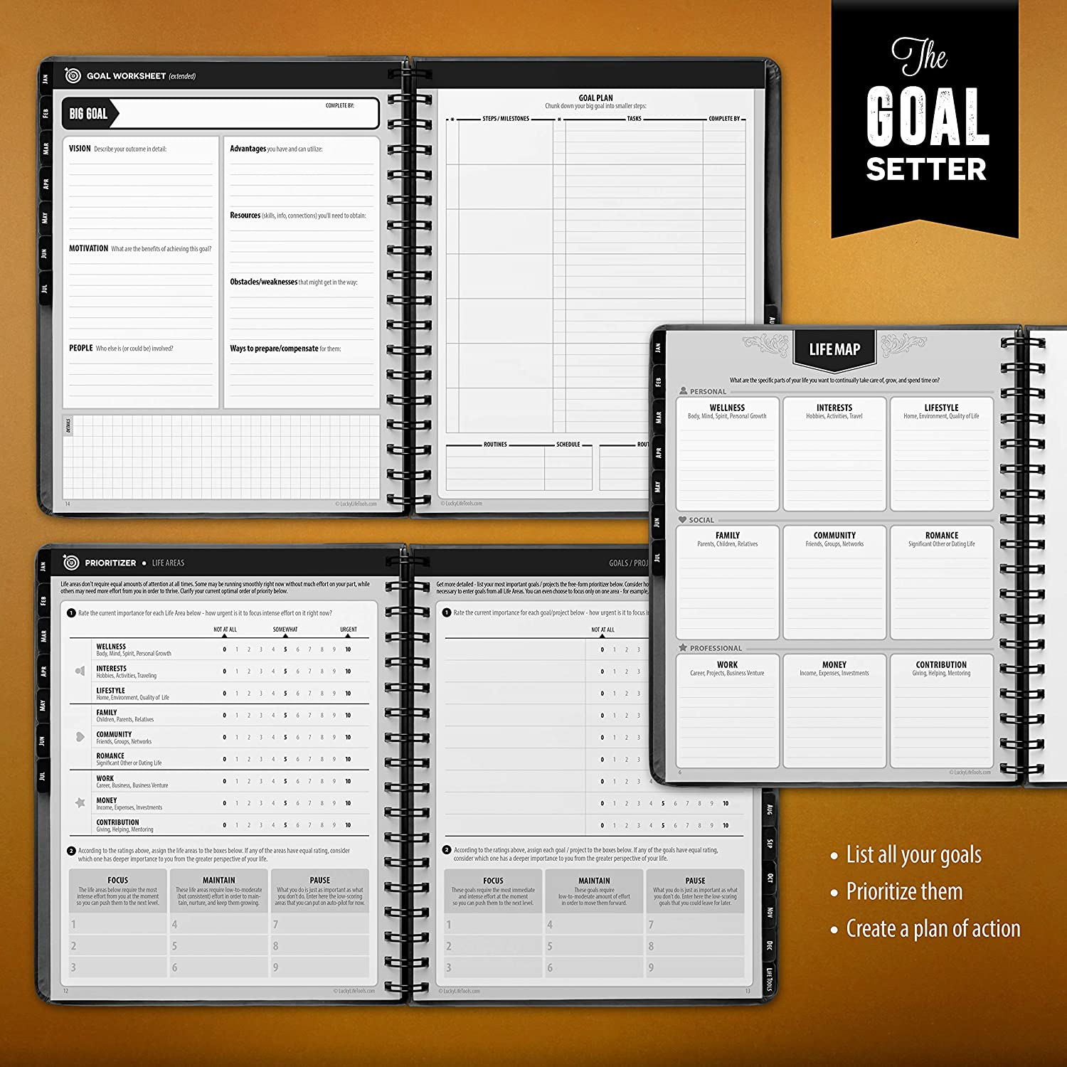 Amazon LUCKY Life Planner 2019 Goal Setter daily weekly