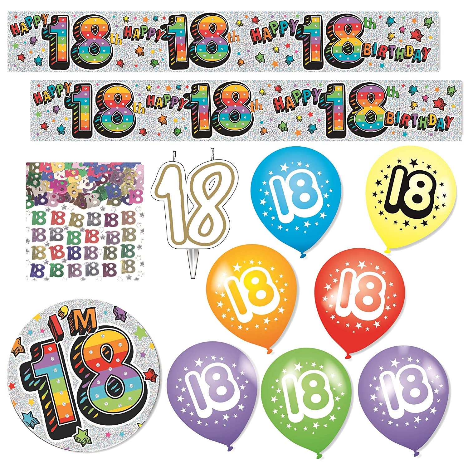 Expression Factory - 18th Birthday Multicoloured Party Decorations Pack iparty Limited