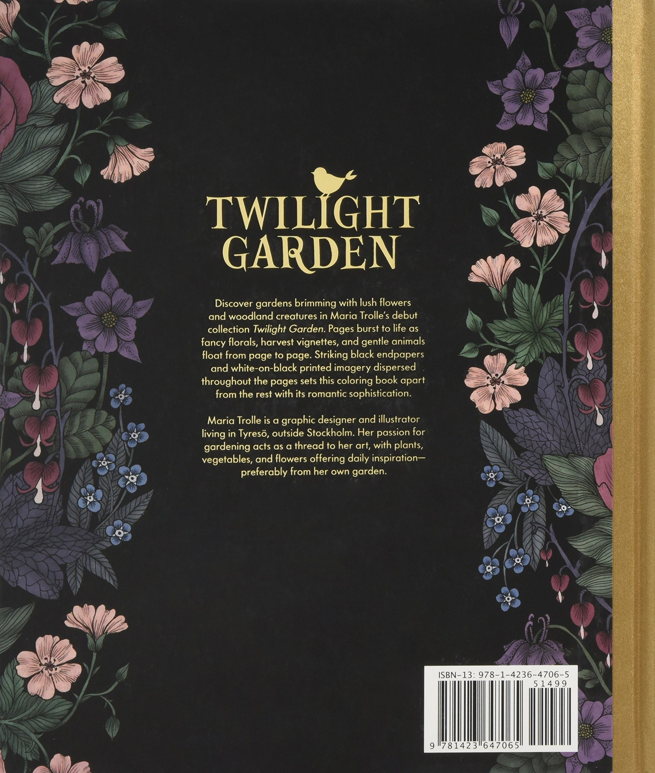 Amazon Twilight Garden Coloring Book Published In Sweden As Blomstermandala Gsp Trade 9781423647065 Maria Trolle Books