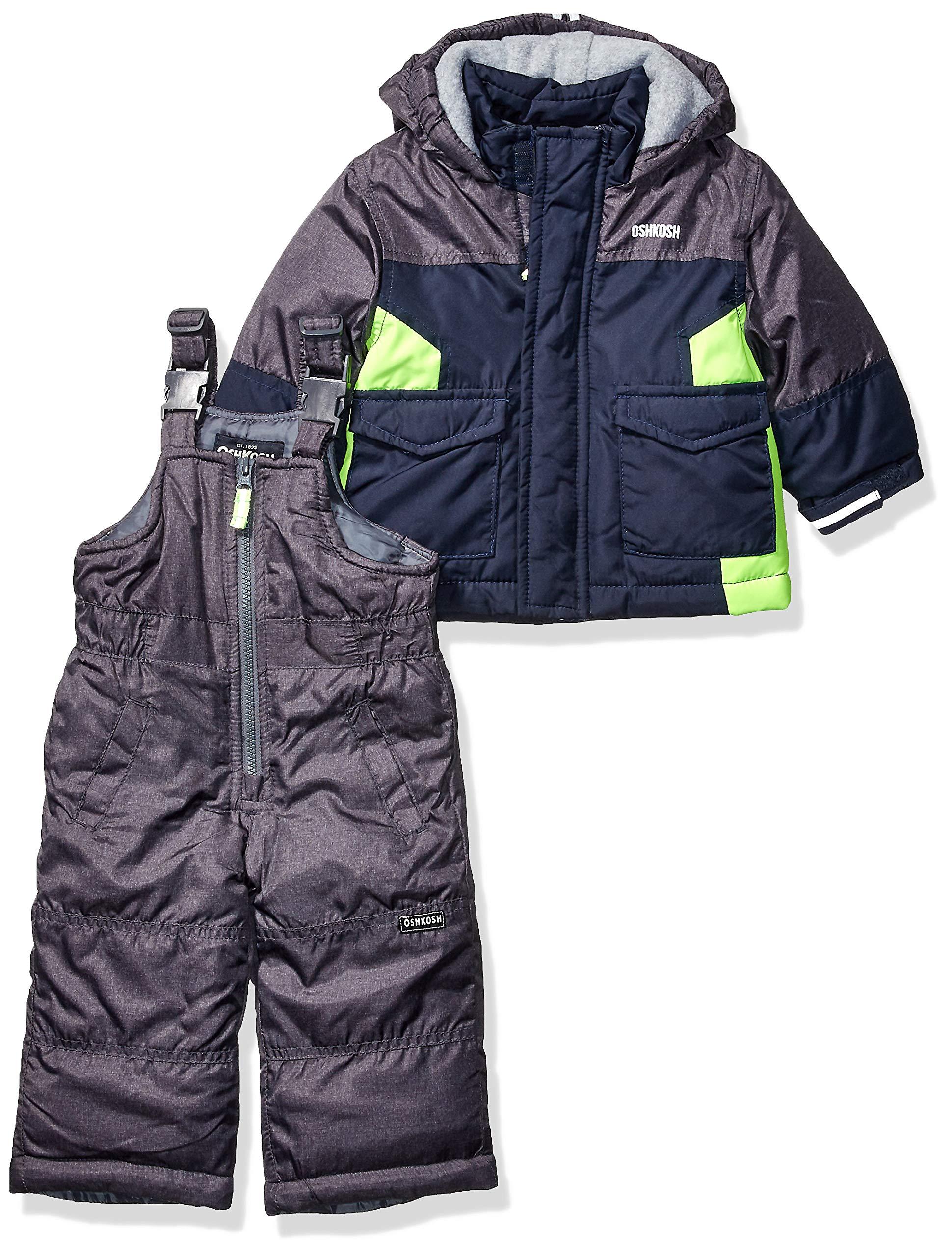 OshKosh B'Gosh Baby Boys Ski Jacket and Snowbib Snowsuit Set, Navy Fall, 24Mo by OshKosh B'Gosh