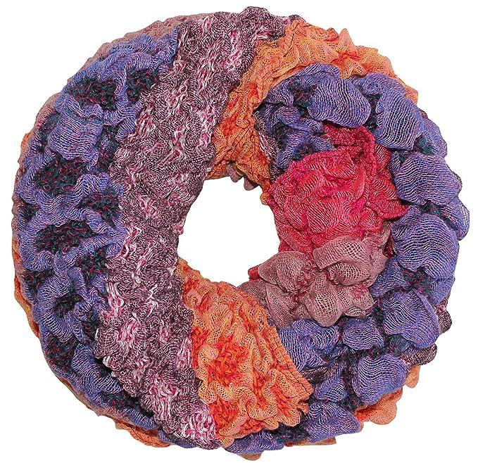 Loop Schal Damen Loopschal Rundschal Blumen Halstuch Muster Mehrfarbig Bunt Neu
