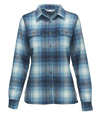 da907ae23 Woolrich Women's Bering Wool Plaid Shirt at Amazon Women's Clothing ...