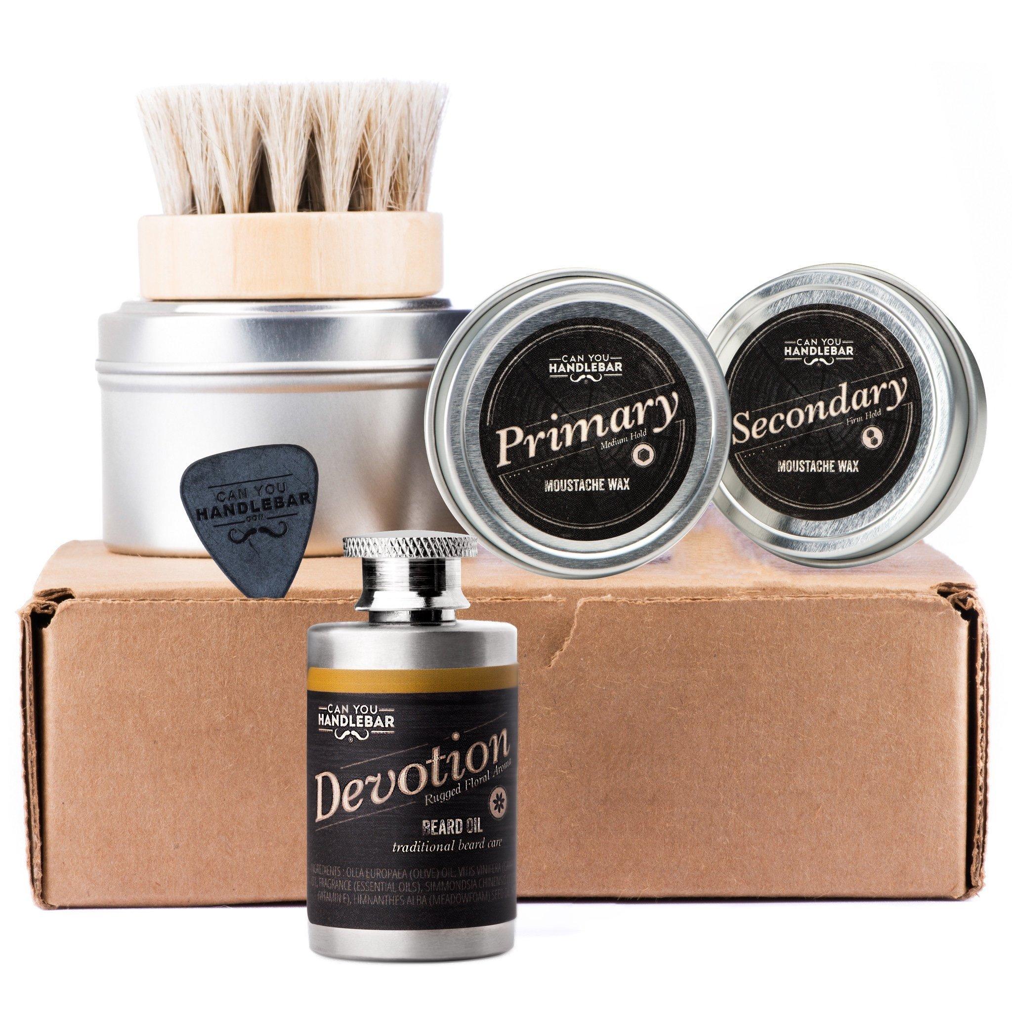 CanYouHandlebar Basic Beard Care Kit : Devotion Beard Oil Flask