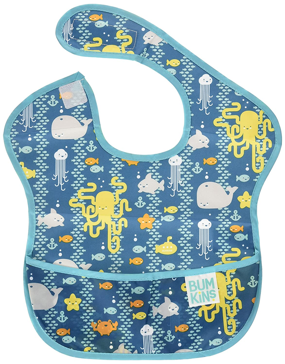 Bumkins Waterproof SuperBib, Sea Friends, (6-24 Months) S-190