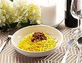 Porcelain Pasta Bowls Set - 6-Piece Wide Shallow