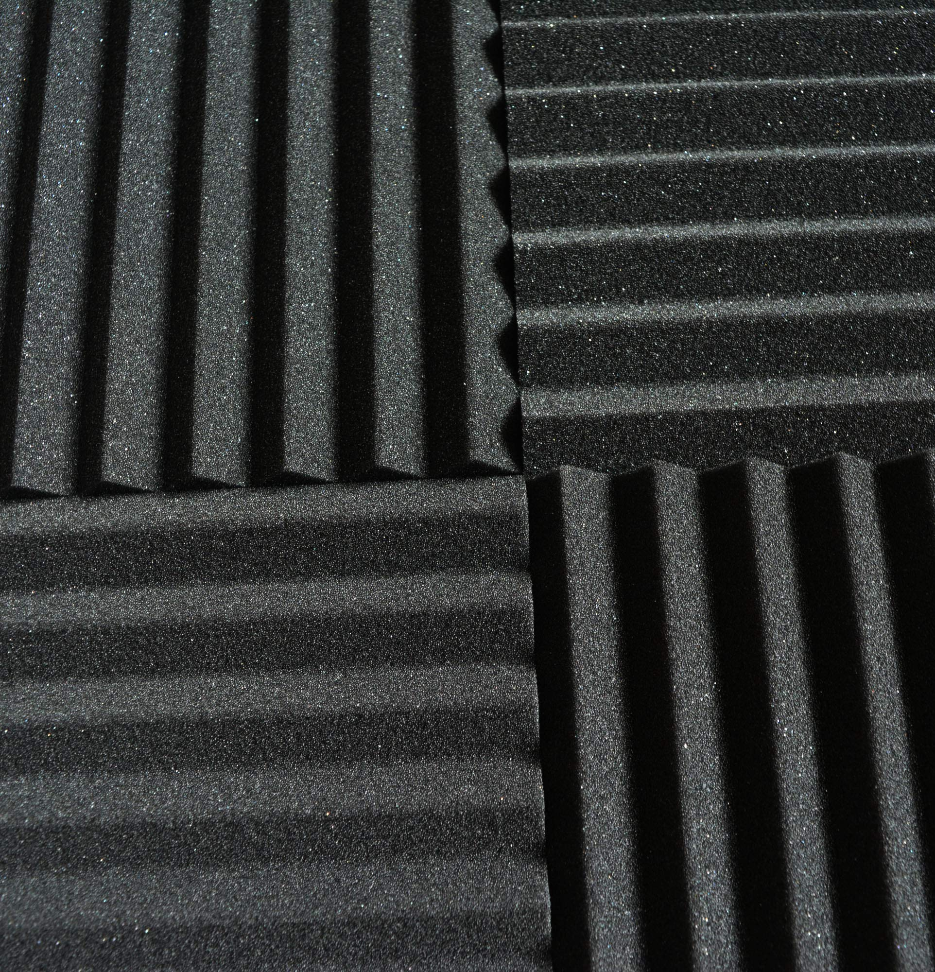 52 Pack 1'' x 12'' x 12'' Black/BLUE Acoustic Wedge Studio Foam Sound Absorption Wall Panels (BLACK/BLUE)