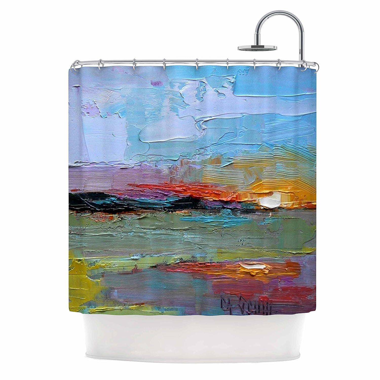 60OFF KESS InHouse Carol Schiff Hues Multicolor Painting Shower Curtain 69