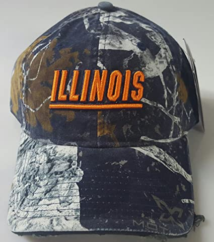 quality design 8ced7 05b48 inexpensive illinois fighting illini embroidered adjustable buckle back pre  distressed cap 5ca0e 82eab