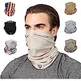Terra Kuda Face Clothing Neck Gaiter Mask – Non Slip Light Breathable Sun Wind Dust Bandana Balaclava