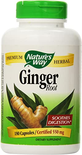 Nature s Way Ginger Root 550 mg, Capsules 180ea