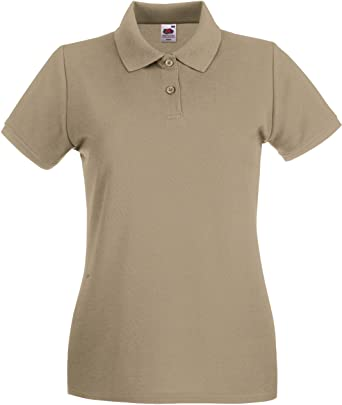 Fruit of the Loom - Polo - para Mujer Caqui Extra-Large: Amazon.es ...