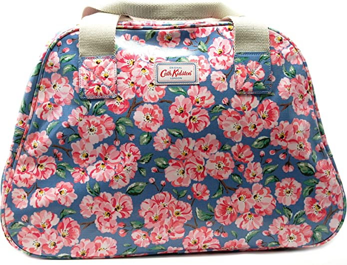 Cath Kidston Overnight Bag 'Blossom Bunch' Blue Oilcloth