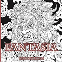 Fantasia Anti-Stress Adult Coloring Book - 3rd US Edition - Single Sided