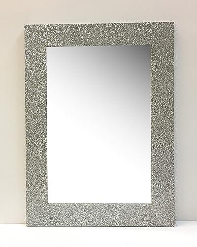 Specchio cornice glitter argento,cm55x75: Amazon.it: Handmade