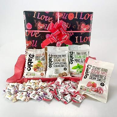 Caja de regalo con temática de San Valentín – Adecuado para dietas diabéticas: Amazon.es: Alimentación y bebidas