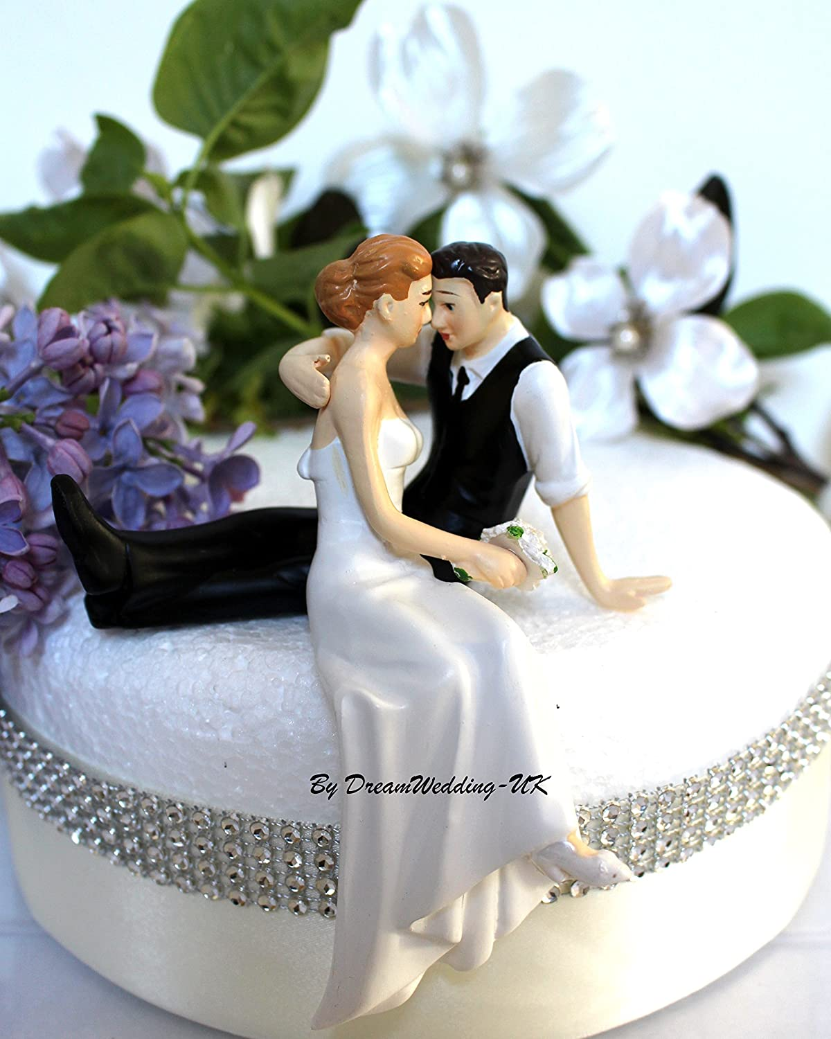 DreamWeddingUK The Look Of Love Wedding Cake Topper Bride And - Present Wedding Cake