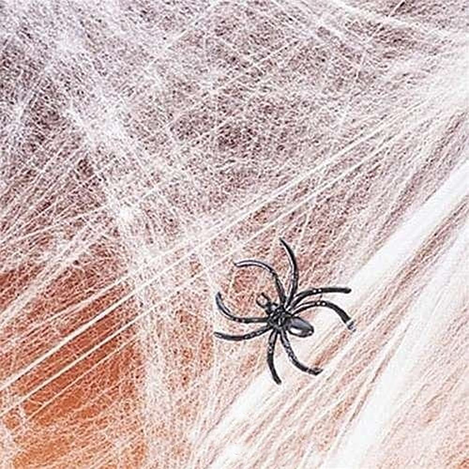 Amazon.com: Spider Web Streachable white with (2) Spiders Pkg/1 ...